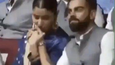 अनुष्का शर्मा चा Kiss Of Love, DDCA च्या कार्यक्रमादरम्यान विराट कोहली याच्या हातावर किस करताना दिसली बॉलीवूडची परी, पहा व्हिडिओ