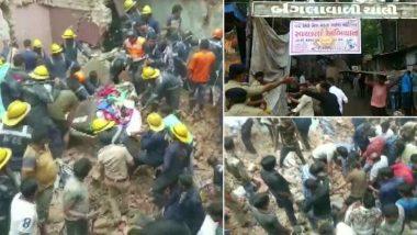 अहमदाबाद येथे तीन मजली इमारत कोसळून ढिगाऱ्याखाली अनेक रहिवासी अडकल्याची शक्यता, बचावकार्य सुरु