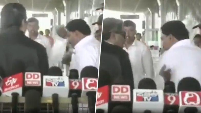 कर्नाटक माजी मुख्यमंत्री सिद्धारमैया यांनी पक्षातील कार्यकर्त्याला मीडियासमोर कानशीलात लगावली, व्हिडिओ सोशल मीडियात व्हायरल