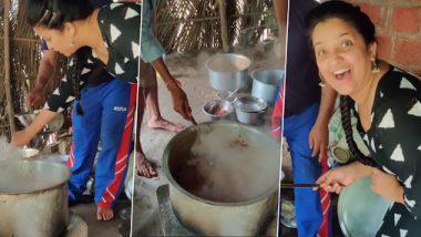 #Video: रात्रीस खेळ चाले 2 च्या सेटवर शेवंता बनवतेय चिकन; पहा संजय जाधव व टीम सोबतचे धम्माल Photo