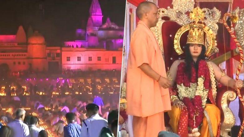 Ayodhya Deepotsav : 5.51 लाख दिव्यांच्या रोषणाईत उजळली अयोध्या; योगी आदित्यनाथ यांच्या उपस्थितीत पार पडला विश्वविक्रमी उपक्रम (Watch Video)