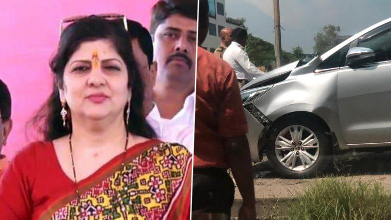 नवी मुंबई: शर्मिला ठाकरे यांच्या गाडीला अपघात; किरकोळ दुखापत