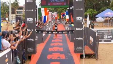 भारतीय सैन्य दलाचे जवान बिश्वर्जित सिंह सैखोम यांनी जिंकली गोवामध्ये आयोजितIronman 70.3 Triathlon स्पर्धा