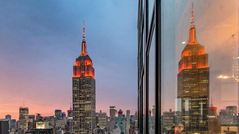 Diwali 2019: दिवाळी निमित्त अमेरिकेची प्रसिद्ध Empire State Building उजळली केशरी रंगात (View Pics)