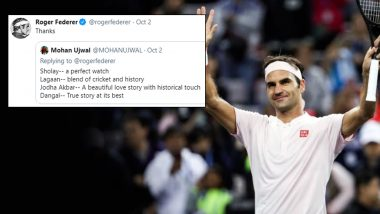 Roger Federer बॉलीवूडच्या प्रेमात; पाहणार हे चित्रपट