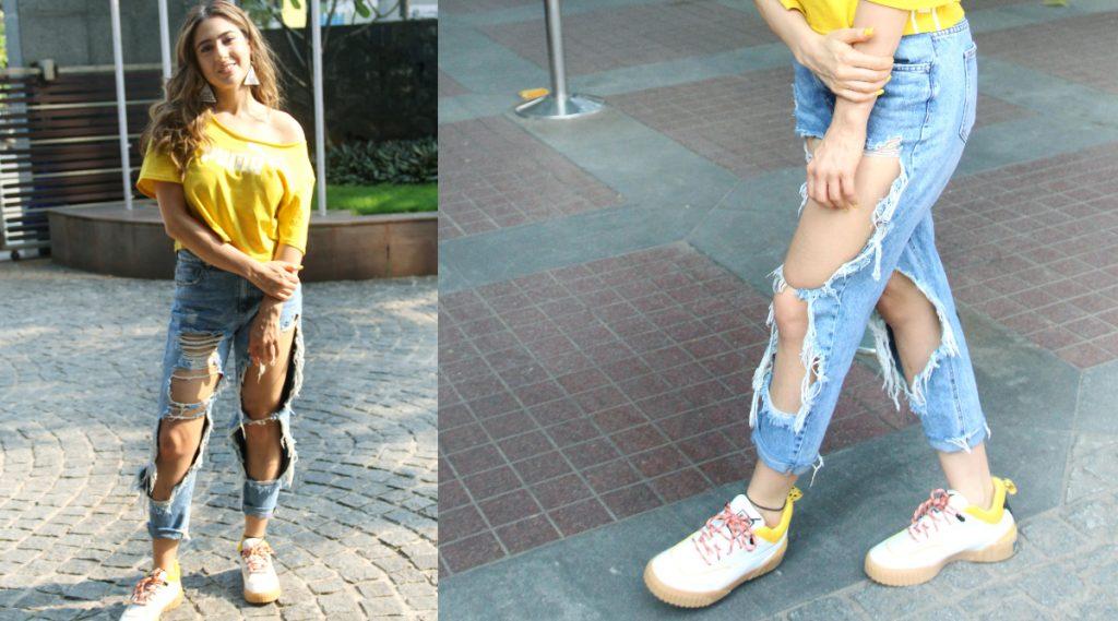पहा Sara Ali Khan ची अजब फॅशन; जीन्सची किंमत वाचून तुम्हीही व्हाल थक्क
