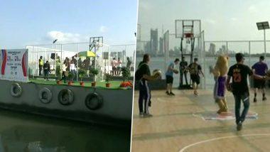 मुंबई मध्ये पहिल्या NBA गेम्ससाठी तयारीला सुरुवात, अरबी समुद्रात भारतातलेपहिले Floating Basketball Court सुरू