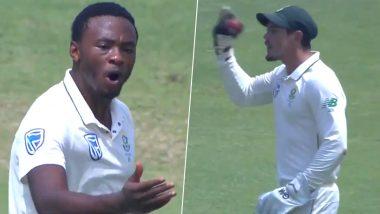 IND vs SA 2nd Test 2019: विकेट न मिळाल्याने दिसुन आली दक्षिण आफ्रिकेची तळमळ; मैदानावर कगिसो रबाडा आणि क्विंटन डी कॉक यांच्यात झाली शिवीगाळ, (Video)