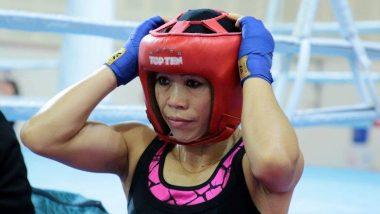 Indian boxer MC Mary Kom ची Dominican Republic च्या Miguelina Hernandez Garcia वर मात करत पुढील फेरीत प्रवेश