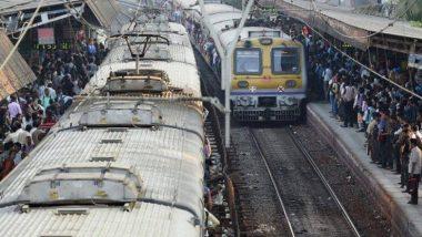 मुंबई,नवी मुंबई मध्ये पावसाचा धुमाकूळ, ट्रान्स हार्बर रेल्वे ठप्प तर मध्य रेल्वेची वाहतूक 20-25 मिनिटं उशिराने!