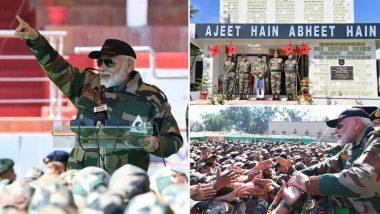 Diwali 2019:जम्मू- काश्मीर मध्ये सैनिकांसोबत पंतप्रधान नरेंद्र मोदी यांनी साजरी केली दिवाळी; पहा हे खास क्षण (Watch Video)