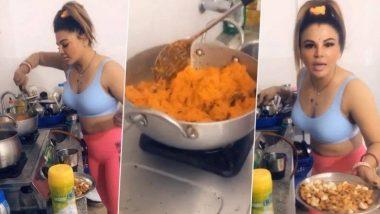 Rakhi Sawant पुन्हा झाली ट्रॉल; गाजर हलवा बनवतानाचा व्हिडिओ पाहून नेटकरी भडकले (See Video)