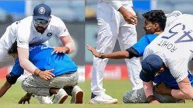 IND vs SA 2nd Test 2019: दुसऱ्या टेस्ट दरम्यान रोहित शर्मा याच्या चाहत्याने केले असे काम की अजिंक्य रहाणे यालाही झाले हसू अनावर, पहा Photo