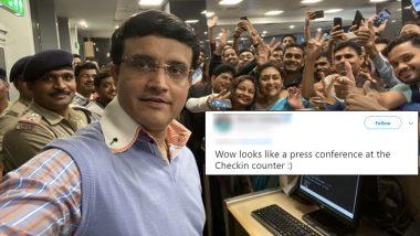 BCCI अध्यक्ष सौरव गांगूली याचा बेंगलुरू एअरपोर्टवरील सेल्फी पाहून चाहते खूश, ट्विटरवर व्यक्त केल्या प्रतिक्रिया