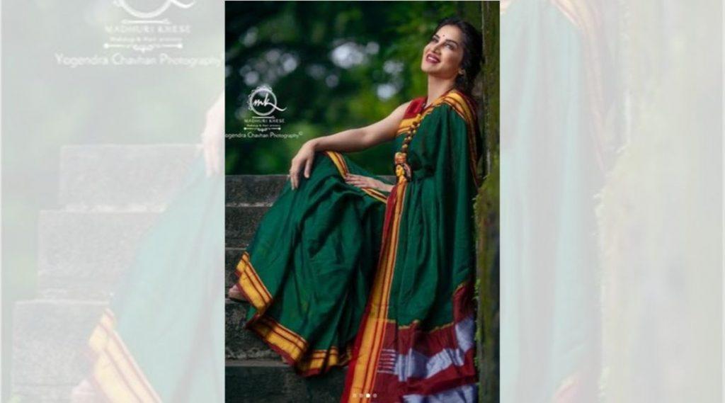 हिरव्या साडीत खुलून आले हॉट अभिनेत्री स्मिता गोंदकर चे सौंदर्य, पाहा फोटोज