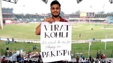 PAK vs SL मॅचदरम्यान कोलहीच्या पाकिस्तानी चाहत्याकडून 'विराट' निमंत्रण म्हणाला 'पाकमध्ये येऊन खेळ';  भारतीय क्रिकेटप्रेमिंनी सोशल मीडियावर केले कौतुक