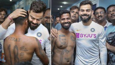 IND vs SA 1st Test 2019: पहिल्या टेस्टआधी विराट कोहली ने घेतली खास चाहत्यांची भेट, अंगावर गोंदवले कोहलीसंबंधीचे 15 टॅटू