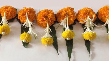 Dussehra 2019: आंब्याची पाने आणि झेंडूच्या फुलांचे आकर्षक तोरण लावून सजवा तुमचे घर; या सोप्प्या ट्रिक्स करतील मदत (Watch Video)