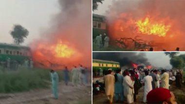 पाकिस्तानातील कराची-रावळपिंडी तेजगाम एक्सप्रेसमध्ये भीषण आग; 65 प्रवासी मृत तर अनेकांची प्रकृती गंभीर