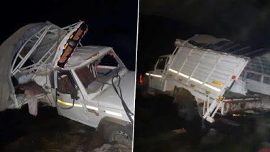 ऊसतोड कामगार घेऊन जाणाऱ्या पिकअप व्हॅनला धुळ्यामध्ये भीषण अपघात; 7 जणांचा मृत्यू, 24 जण जखमी