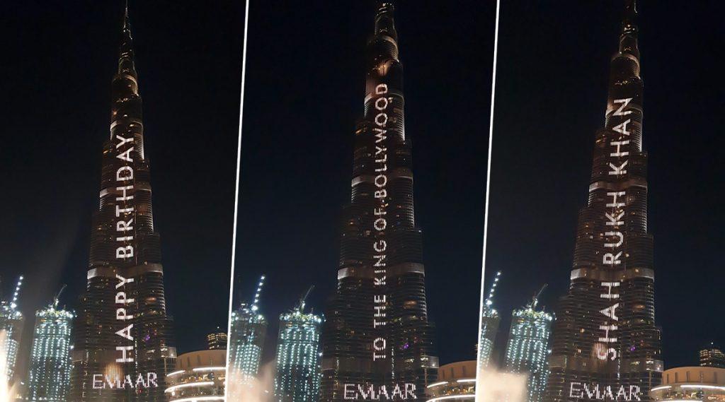 वाढदिवसानिमित्त शाहरुख खानची प्रतिमा झळकली Burj Khalifa वर; अशा प्रकारे सन्मान मिळवणारी जगातील पहिली व्यक्ती (Video)