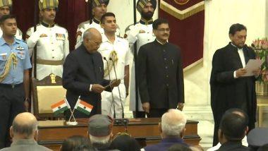 शरद बोबडे यांनी घेतली सरन्यायाधीश पदाची शपथ; राष्ट्रपती रामनाथ कोविंद यांच्या उपस्थितीत स्वीकारला पदभार (Watch Video)