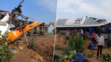 राजस्थान: खाजगी बसची ट्रकला जोरदार धडक; 10 जणांचा मृत्यू, २५ जखमी
