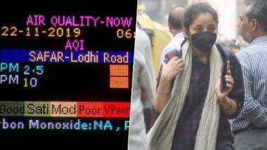 Delhi Air Pollution: दिल्लीतील हवा प्रदूषणात वाढ; 'एअर क्वालिटी इंडेक्स' 350 च्या पार