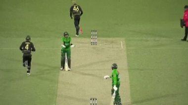 AUS vs PAK 2nd T20I: सह खेळाडूची फलंदाजी पाहून भडकला पाकिस्तानचा नवीन कर्णधार बाबर आझम, मैदानावरच घेतली शाळा, पहा Video
