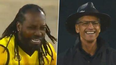 Mzansi Super League 2019: फलंदाजाला आऊट न दिल्याने क्रिस गेल याला लहान मुलासारखे रडताना पाहून अंपायरलाही आले हसू, पाहा Video