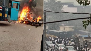 दिल्ली: तीस हजारी कोर्टाजवळ पोलीस आणि वकिलांमध्ये राडा, फायरिंग केल्यानंतर गाड्या पेटवल्या