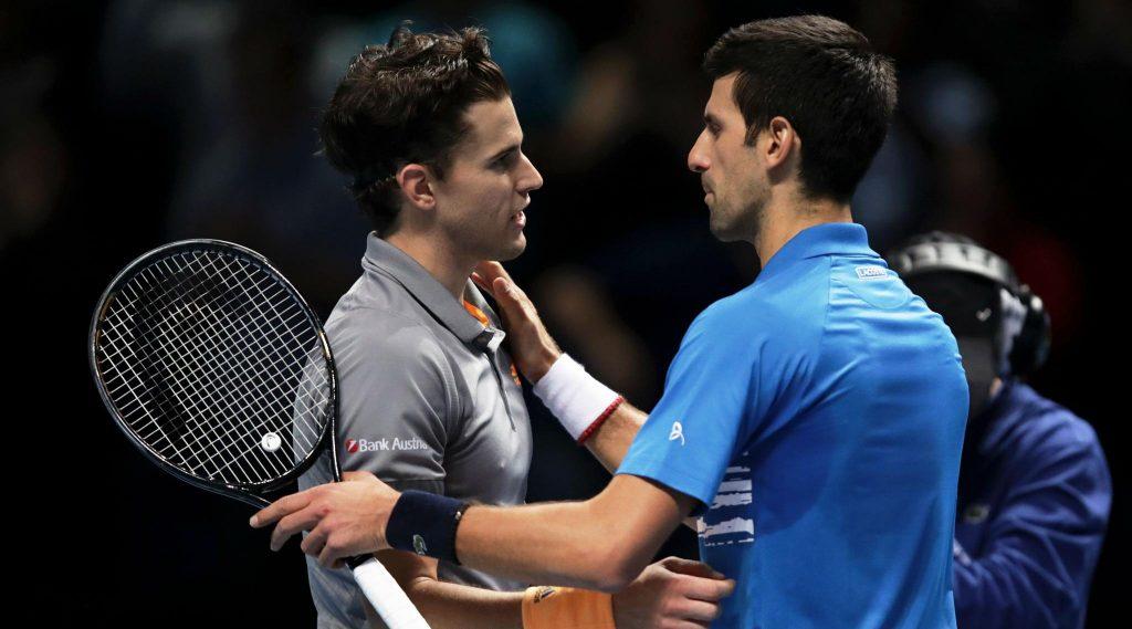 ATP Finals 2019:नोवाक जोकोविच याचाडोमिनिक थीम याच्याकडून पराभव, अंतिम4 मध्ये स्थान मिळवण्यासाठी रोजर फेडरर याच्याशी होणार सामना
