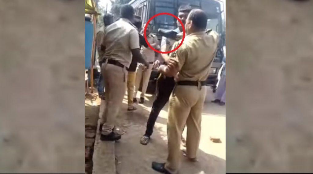 VIDEO: भंडारा येथे पोलिसांमध्ये फ्री-स्टाईल हाणामारी, एकमेकांना बुटाने चोप; आरोपीला खर्रा देण्यावर वाद