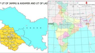 भारत सरकारने जाहीर केला देशाचा नवा नकाशा, नव्या रुपात जम्मू-कश्मीर आणि लद्दाख दिसणार