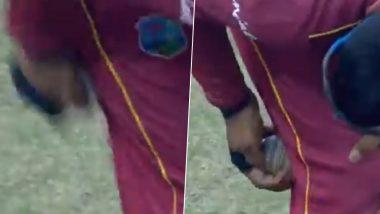 अफगाणिस्तानविरुद्ध3rd ODI दरम्याननिकोलस पूरन याने केलं बॉल टेम्परिंग? वेस्ट इंडियन खेळाडूचे 'हे' वर्तन संशयाच्या भोवऱ्यात, पाहा Video