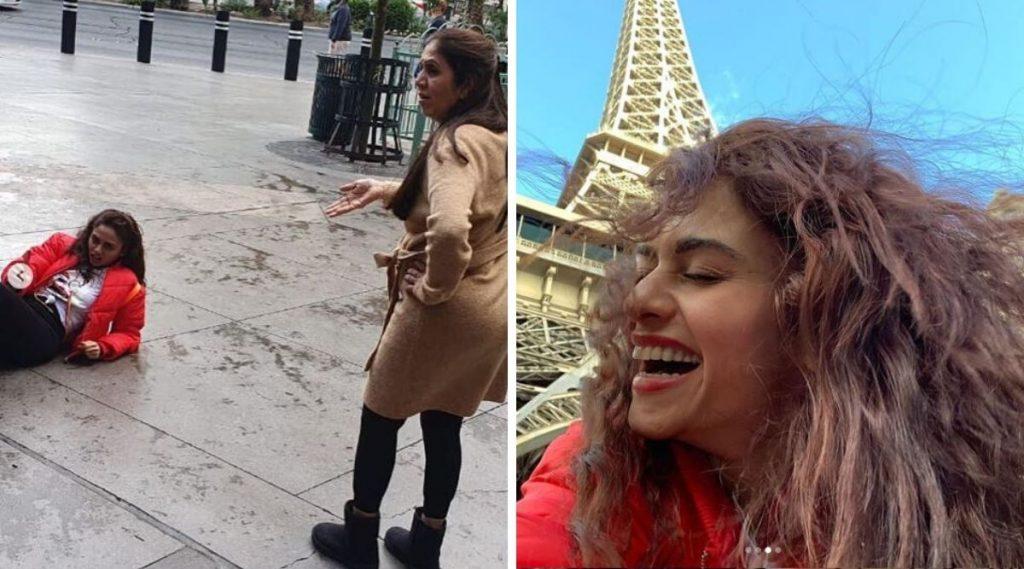 अमृता खानविलकर ने Eifel Tower समोर आईचा फोटो काढण्यासाठी घातले रस्त्यात लोटांगण; पहा हा धम्माल क्षण