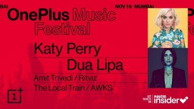 One Plus Music Festival मध्ये Katy Perry आणि Dua Lipa यांच्यासह अनेक दिग्गज सिंगर होणार सहभागी, जाणून घ्या कार्यक्रमाचे खास वैशिष्ट