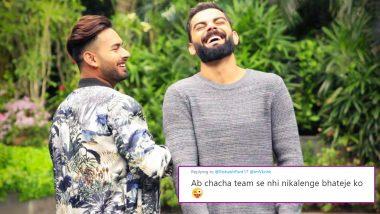 विराट कोहली याला 'Chachaaa' म्हणत रिषभ पंत याने दिल्या वाढदिवसाच्या शुभेच्छा, Netizens ने मस्का मारण्याचा आरोप करत केले ट्रोल