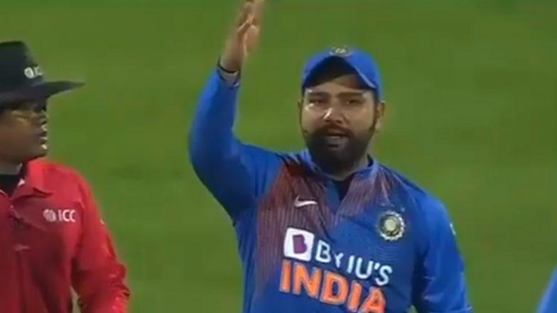 IND vs BAN 2nd T20I: मॅचदरम्यान थर्ड अंपायरच्या चुकीवर भडकला रोहित शर्मा, मैदानावर 'या' अंदाजात केला राग व्यक्त, पाहा Video