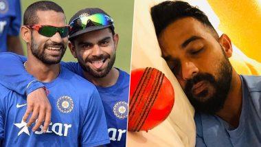 IND vs BAN 2nd Test: डे-नाईट टेस्टपूर्वी अजिंक्य रहाणे याला पडले पिंक बॉलचे स्वप्न,विराट कोहली-शिखर धवन यांनी दिल्या मजेदार प्रतिक्रिया, पाहाTweet