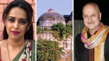 Ayodhya Verdict: 'अयोध्या निकालाचा भारतीय म्हणून स्विकार करा', बॉलिवूड कलाकार स्वरा भास्कर, अनुपम खेर यांच्यासह बी-टाउनचे नागरिकांना शांततेचे आवाहन