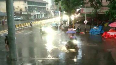 Mumbai Rains: मुंबई शहर, उपनगरासह नवी मुंबईत जोरदार पाऊस; सखल भागात पाणीच पाणी