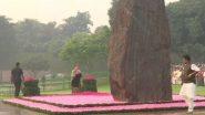 इंदिरा गांधी यांच्या जयंती निमित्त सोनिया गांधी सह कॉंग्रेस नेत्यांनी वाहिली 'शक्ती स्थळ' वर श्रद्धांजली