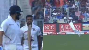 विराट कोहली याला बाद करण्यासाठी तैजुल इस्लाम याने हवेत पकडलेला अप्रतिम झेल पाहून टीम इंडियाचा कर्णधारही झाला अवाक, पाहा Video