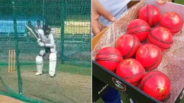 IND vs BAN Test 2019: इंदोरमध्ये विराट कोहली आणि टीम इंडियाने नेट्समध्ये केला Pink Ball ने सराव, पाहा व्हिडिओ
