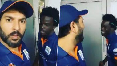 T10 League 2019: वेस्ट इंडियनचाडविक वॉल्टन याची पंजाबी ऐकून युवराज सिंह याला झाले हसू अनावर, पाहा हा मजेदारVideo