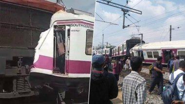 हैदराबाद येथील काचेगुडा रेल्वे स्टेशनदरम्यान 2 रेल्वेंची एकमेकांना जोरदार धडक, अपघातात 5 जण जखमी