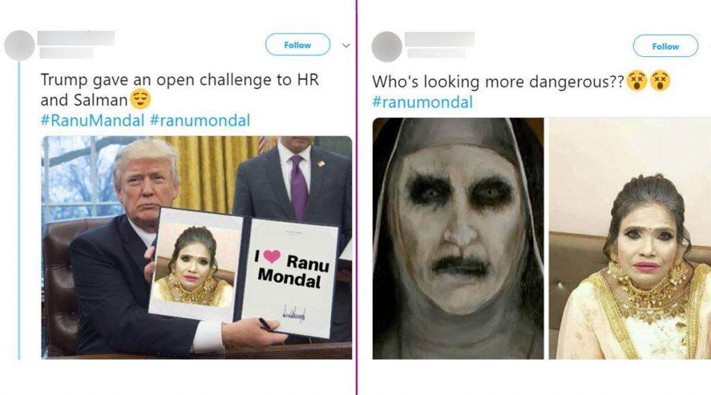 रानू मंडल हिचे गोल्डन रंगाच्या मेकअप मधील फोटो सोशल मीडियात व्हायरल, नेटकऱ्यांकडून खिल्ली
