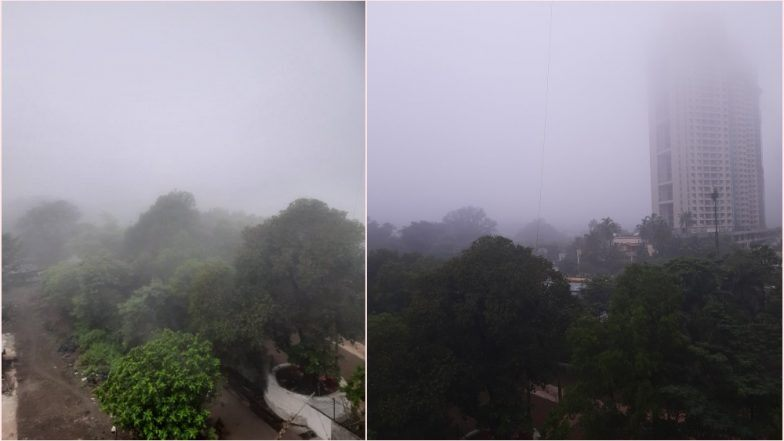 मुंबई, ठाणे शहरात रविवार सकाळी धुकचं धुकं! महाराष्ट्रात थंडीच आगमन की प्रदुषण?  नेटकर्यांचा ट्विटर वर प्रश्न