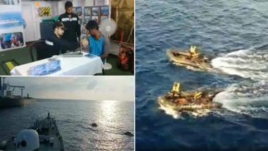 अरबी समुद्रात अडकलेल्या 264 मच्छिमारांची भारतीय तटरक्षक दलाकडून सुटका (Watch Video)